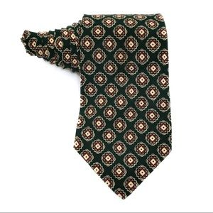 Polo by Ralph Lauren Forest Green Patterned Tie